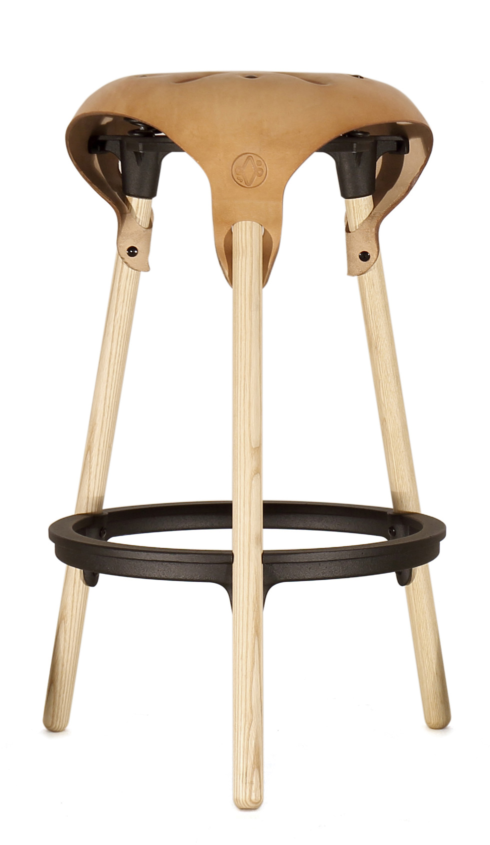 Saddle-stool-73-cm--black-frame-vroonland&vaandrager
