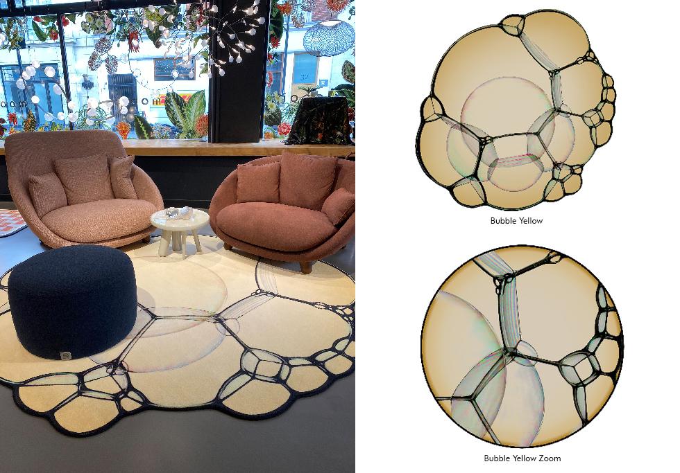 Moooi Carpets Bubble Yellow