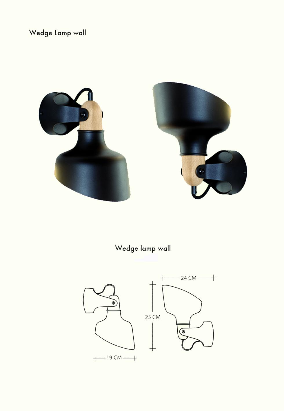 Wedgelamp-wall